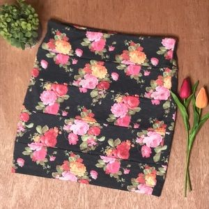 Nollie Floral Bodycon Skirt